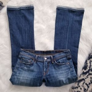 Citizens of Humanity stretch low waist flare jeans